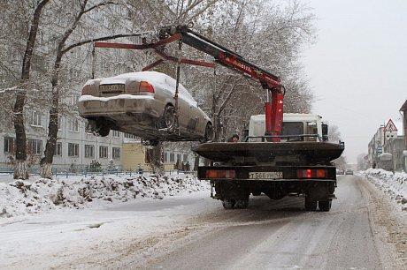 Эвакуация машин для работы снегоуборочной техники